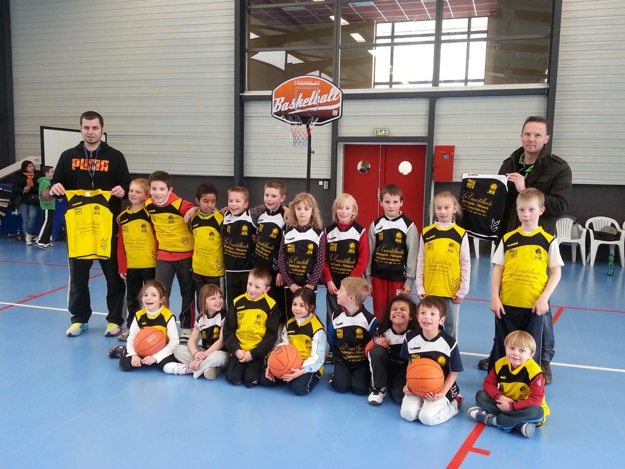 Les enfants de l'école de Mini-Basket