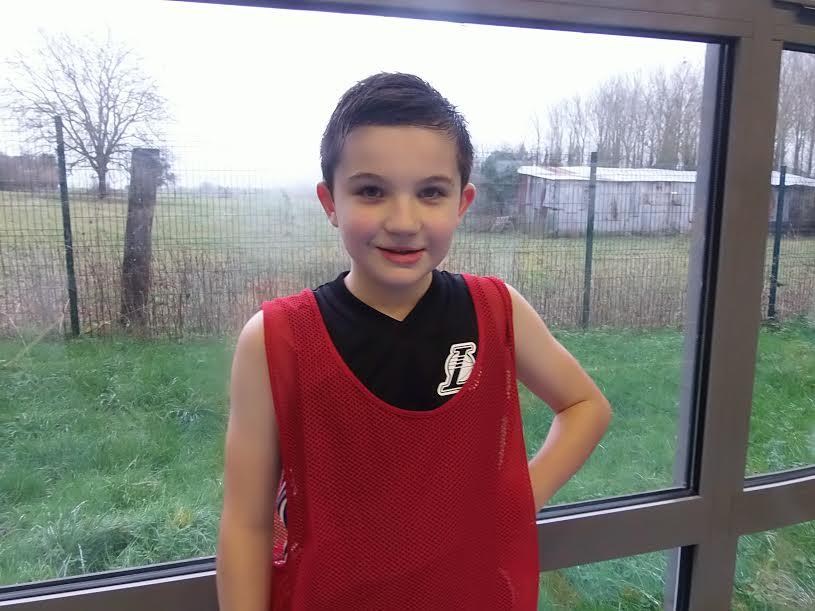Lucas, joueur en U11 Poussins.