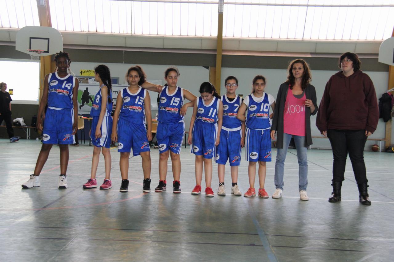 L'équipe U13 Benjamines de la MABB