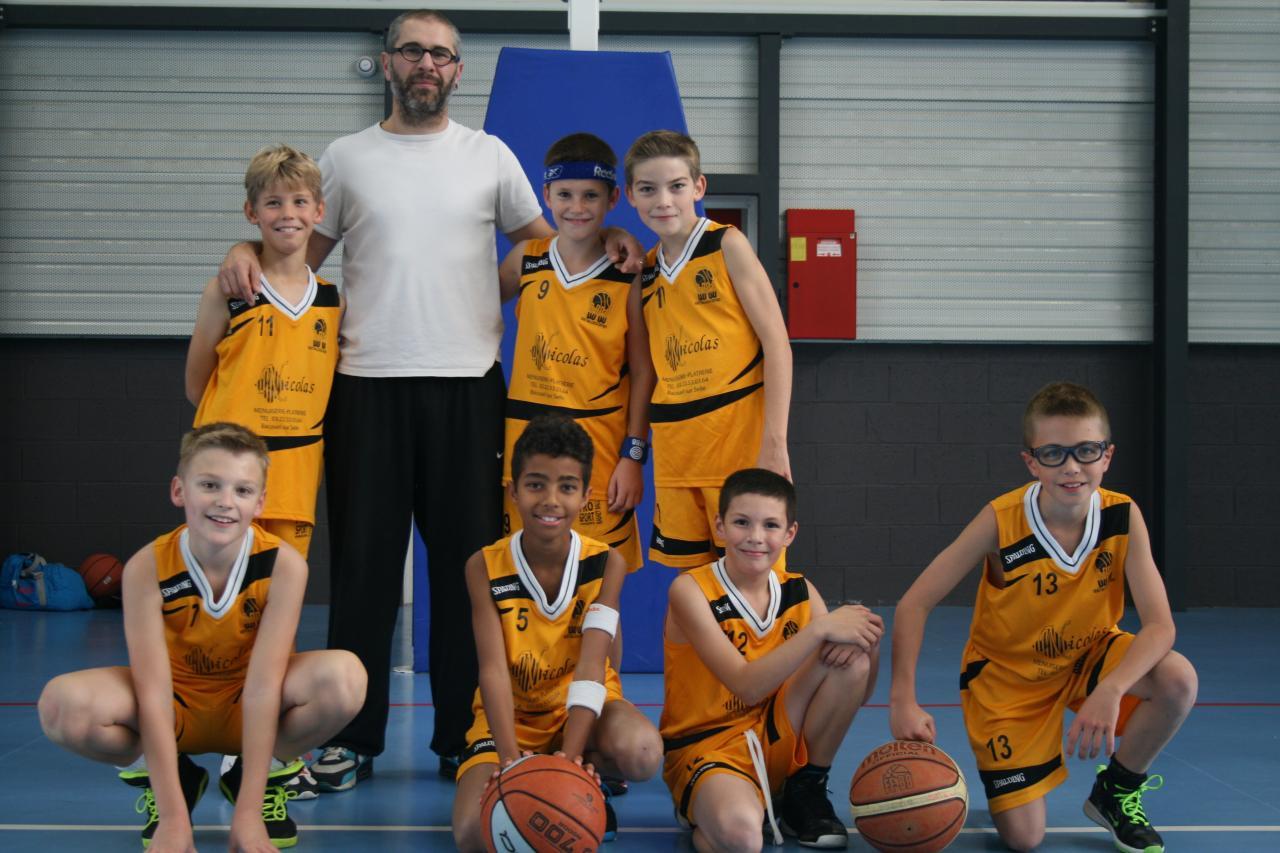 Première photo. d'équipe des U13 du Basket Ball Club du Contynois.