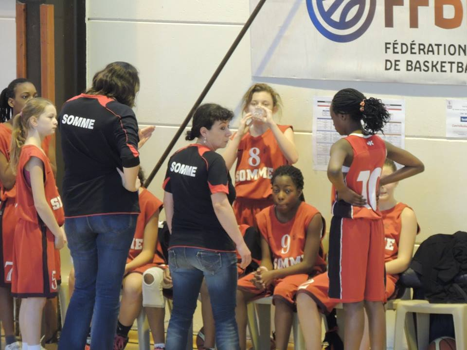 Valérie, coach de l'équipe de Somme