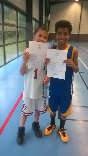 Mattéo et Raphaël, les deux joueurs sélectionnés en équipe de Somme.