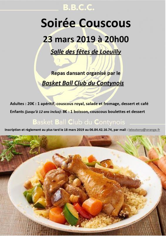 Affiche soiree couscous 2019