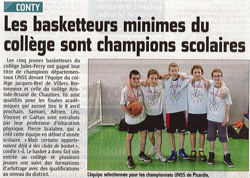 Article Courrier Picard - 1er semestre 2015