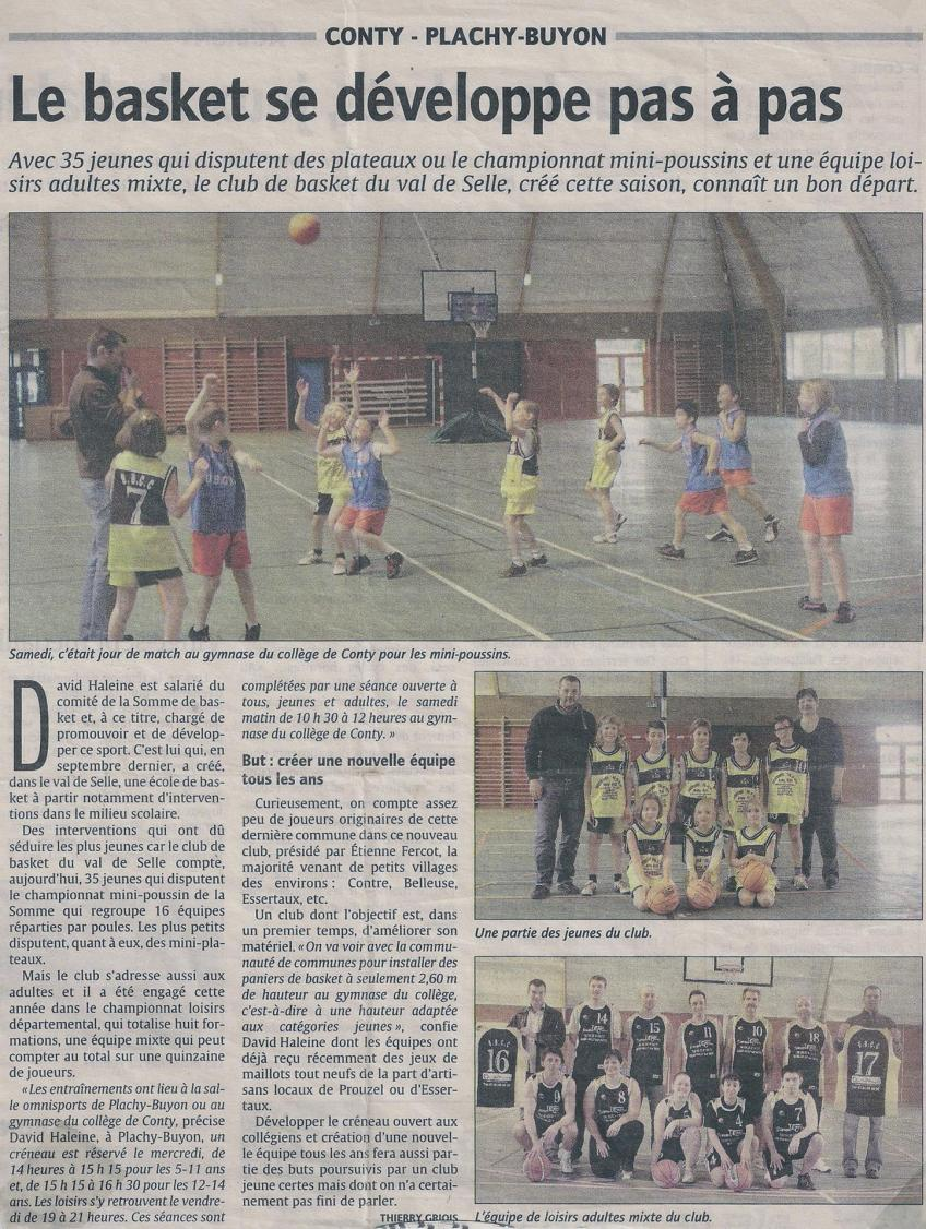 Article Courrier Picard - mars 2010