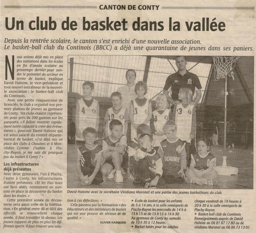 Article Courrier Picard - octobre 2009