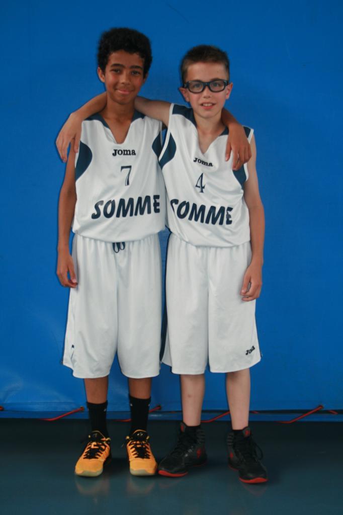 Raphaël et Mattéo en équipe de Somme