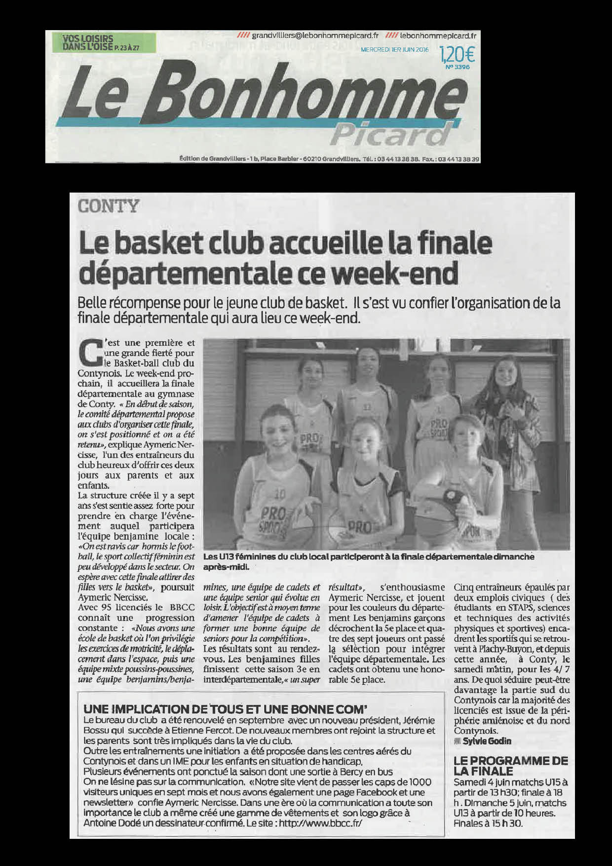 Article Bonhomme Picard - 01.06.16